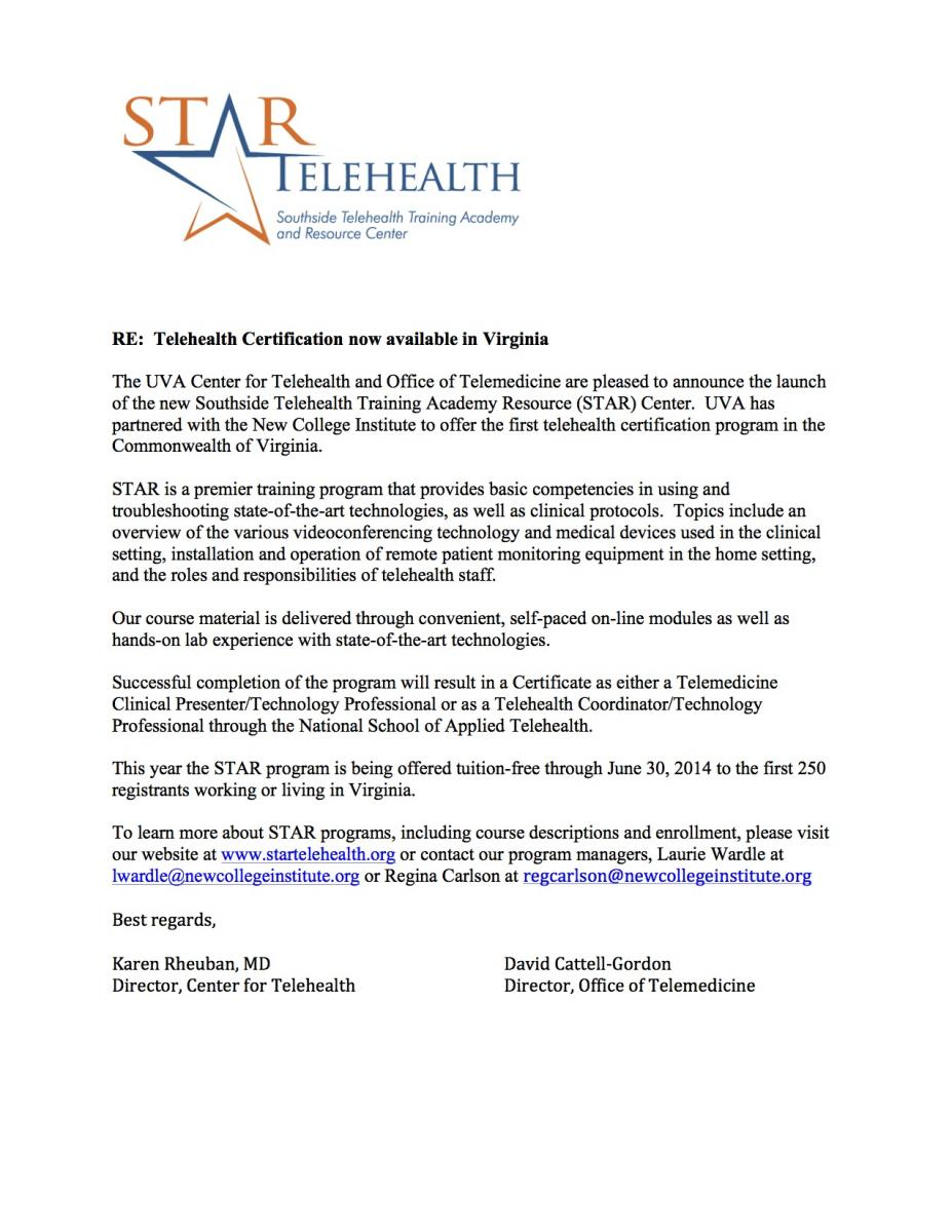 Star telehealth certification free training and ceus healthy star telehealth certification free training and ceus xflitez Gallery